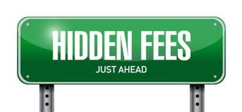 Hidden fees street sign concept illustration Stock Photos