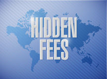 Hidden fees world sign concept illustration Royalty Free Stock Image