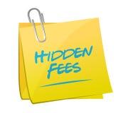 Hidden fees yellow sign concept illustration Stock Photos