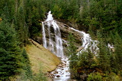 Hidden gem. Waterfall only seen from rail road through Alberta, Canada Stock Image