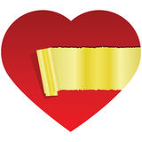Hidden golden heart Royalty Free Stock Image