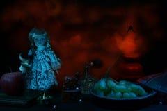 Hidden Horrors Halloween Still Life Stock Image