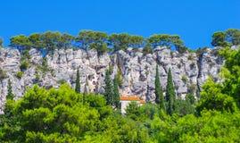 Hidden houses in Croatia Stock Photos