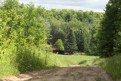 Hidden hunting lodge Royalty Free Stock Image