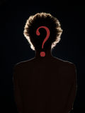 Hidden identity, who is this person? Royalty Free Stock Photography