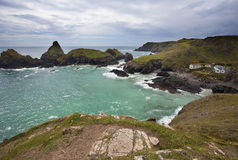Hidden jewel of Cornwall, Kynance Cove. Beautiful cove - Kynance in Cornwall, UK Stock Image