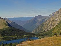 Hidden Lake. This image of the north end of Hidden Lake looking into the McDonald Valley was taken from a trail in Glacier National Park Royalty Free Stock Photos