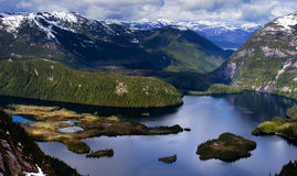 Hidden Lake. A lake high up in the mountains of Misty Fjord National Monument, Alaska Stock Image
