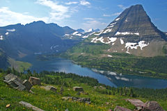 Hidden Lake. At Logan Pass in Glacier NP, Montana Stock Photo
