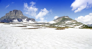 Hidden Lake in Glacier National Park, Montana.ge Royalty Free Stock Photo