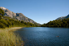 Hidden Lake in Nahuel Huapi - Bariloche - Argentina Royalty Free Stock Photo