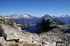 Hidden lake in North Cascades national park Stock Image