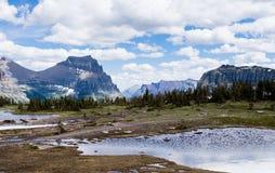 Hidden Lake trail in Glacier National Park, USA Stock Image