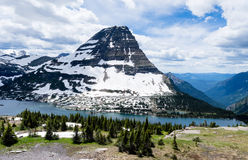 Hidden Lake trail in Glacier National Park, USA Stock Images