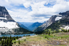 Hidden Lake trail in Glacier National Park, USA Stock Photos
