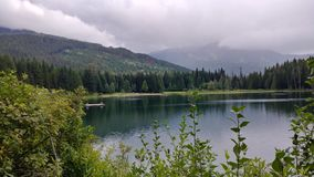 Hidden Lake. View of Hidden Lake from a Whistler bike path Stock Photography