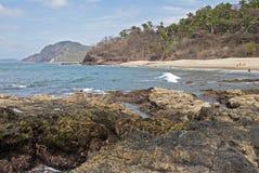 Hidden Mexican Pacific Ocean beach Stock Photography