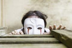 Hidden monster mask Royalty Free Stock Image