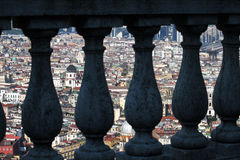 Hidden naples. A view of naples in italy Royalty Free Stock Images