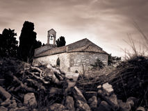 Hidden old Mediterranean church Royalty Free Stock Images