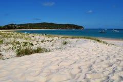 Hidden paradise beach. Stock Photos
