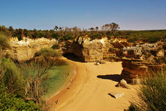 Hidden paradise beach. Beach near Twelve Apostles, Australia Royalty Free Stock Images