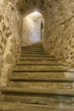 Hidden passage in a medieval castle Royalty Free Stock Photography