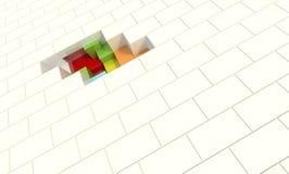 Hidden Pieces. White Panels with Hidden Elements Stock Photos