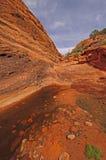 Hidden Pond in a Desert Canyon Stock Photo