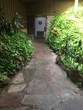 Hidden restroom secret garden Stock Image