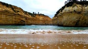 Hidden sand beach royalty free stock image