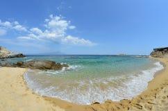 Hidden sandy beach Stock Photo