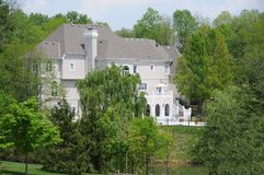 Hidden Secluded Mansion Stock Photography