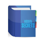 Hidden secrets book illustration design. Over a white background Royalty Free Stock Photography