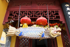 Hidden Shanghai: the Jade Buddha Temple, a very spiritual place Royalty Free Stock Images
