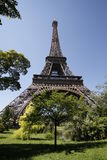 Hidden side of eiffel tower... A superb view of eiffel tower from park Stock Photos