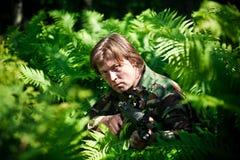 Hidden soldier Stock Image