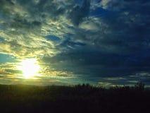 Hidden sun set Royalty Free Stock Photo