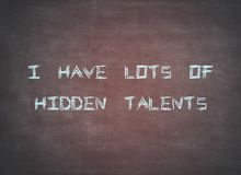 Hidden talents skills leadership ambition typography. Letterpress lots career success leader boss lady woman feminism business manager unknown letters lhidden stock photography