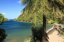 Hidden tropical beach Royalty Free Stock Images