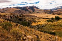 Hidden Valley Montana. Hidden valley in Montana with mountains in the background royalty free stock image