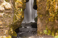 Hidden waterfall iceland Stock Photography