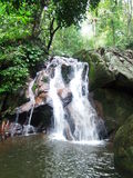 Hidden waterfall in Tioman jungle Royalty Free Stock Images