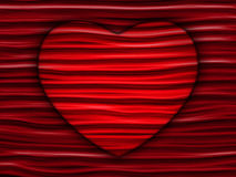 Hidden White Heart on Geometric Red Background Royalty Free Stock Photos