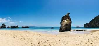 Beach. Hidden and wild beach in Portugal royalty free stock photos