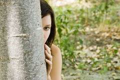 Hidden woman Stock Photo