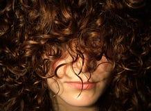 Hidden Woman Face - Hidden by hair Stock Images