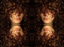 Hidden Woman Face - Hidden by hair Royalty Free Stock Image
