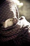 Hidden woman on veil Royalty Free Stock Photos