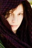 Hidden woman on veil Royalty Free Stock Photography